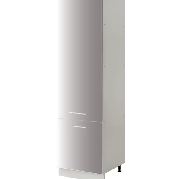 placard frigo gris 60 cm cuisines sur mesure
