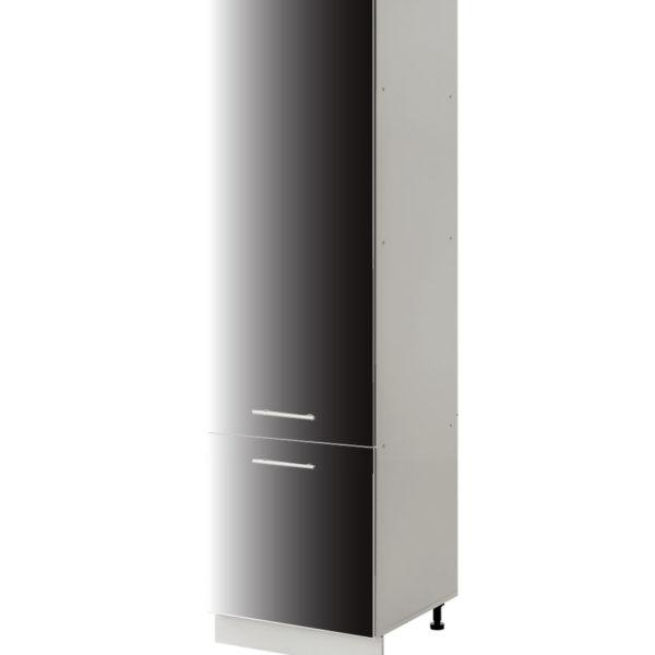 placard frigo noir 60 cm cuisines sur mesure