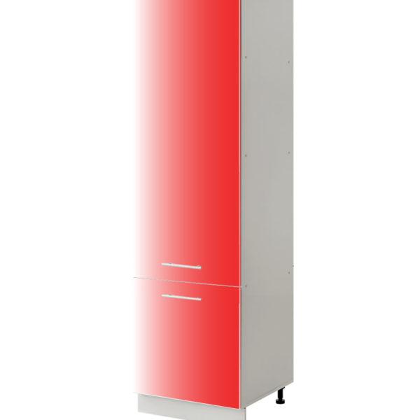 placard rouge 60 cm cuisines sur mesure