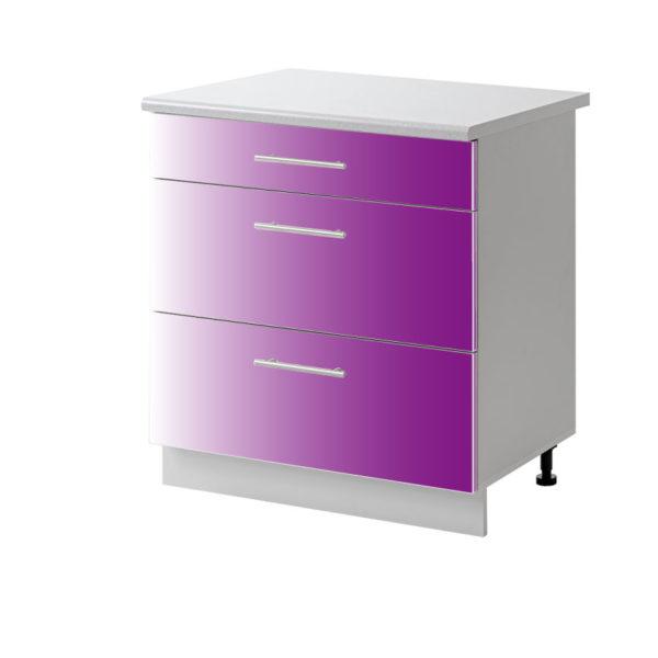 casserolier violet 60 cm bas cuisines sur mesure