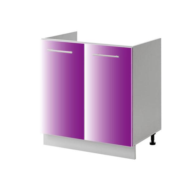 placard évier violet 80 cm bas cuisines sur mesure