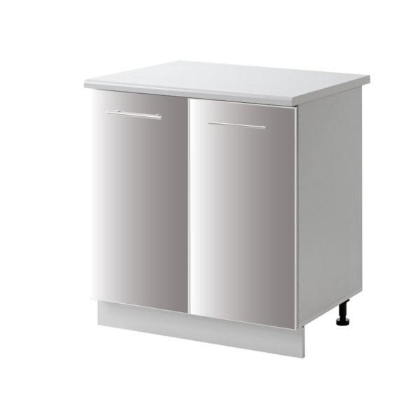 placard 2 porte gris 80 cm bas cuisines sur mesure