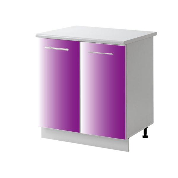 placard 2 porte violet 80 cm bas cuisines sur mesure