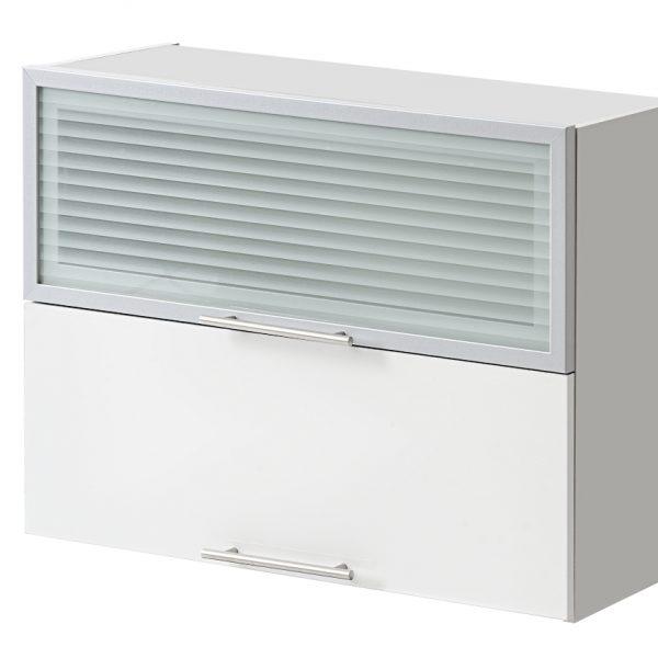 placard double vitre 80 cm haut cuisines sur mesure