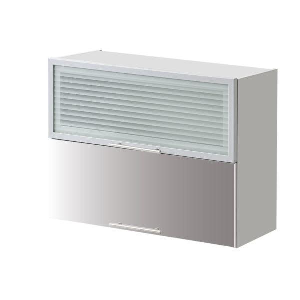 placard double vitre gris 80 cm cuisines sur mesure