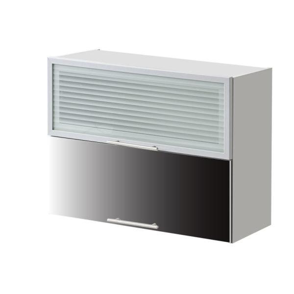 placard double vitre noir 80 cm cuisines sur mesure