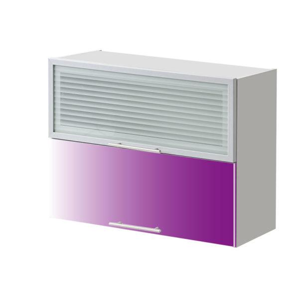 placard double vitre violet 80 cm cuisines sur mesure