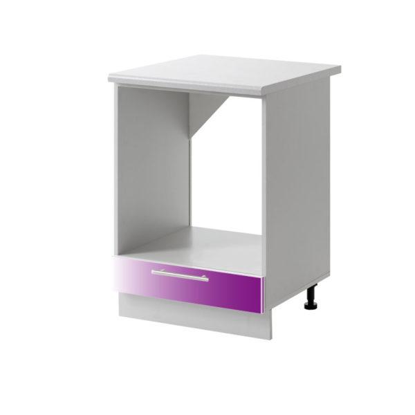 placard four violet 60 cm cuisines sur mesure
