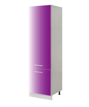 placard frigo violet 60 cm cuisines sur mesure