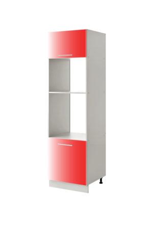 placard micro onde rouge 60 cm cuisines sur mesure