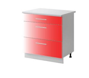 casserolier rouge 60 cm bas cuisines sur mesure