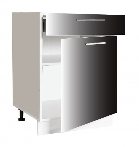 placard 1 porte + tiroir ouvert cuisines sur mesure