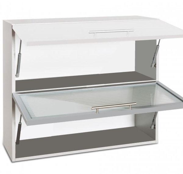 placard double vitre haut ouvert cuisines sur mesure